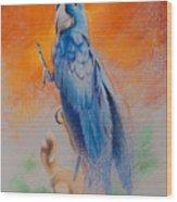 This Bird Had Flown Wood Print