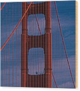 This Is A Close Up Of The Golden Gate Wood Print