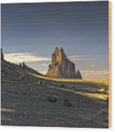 This Is New Mexico No. 2 - Shiprock World Wonder Wood Print by Paul W Sharpe Aka Wizard of Wonders