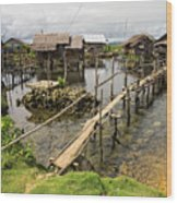 This Is The Philippines No.10 - Pilar Fishing Village Wood Print