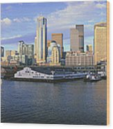 This Is The Skyline And Harbor Wood Print