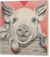 This Little Piggy... Wood Print