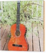 This Old Guitar Wood Print
