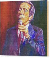 This Song Is For You - Andy Williams Wood Print by David Lloyd Glover