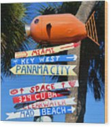 This Way To Florida Wood Print