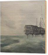 Thistle Alpha-north Sea Wood Print by Douglas Ann Slusher
