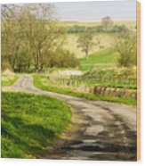 Thixendale Road  North Yorkshire Wood Print