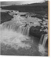 Thofafoss Waterfall Iceland 1538 Wood Print