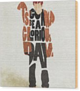 Thom Yorke Typography Art Wood Print