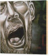 Thom Yorke Wood Print