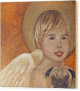 Thomas And Bentley Little Angel Of Friendship Wood Print by The Art With A Heart By Charlotte Phillips