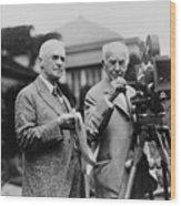 Thomas Edison 1847-1931 And George Wood Print