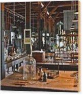 Thomas Edison Lab, #3 Wood Print