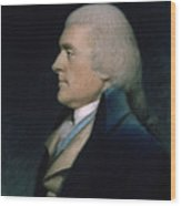 Thomas Jefferson Wood Print by James Sharples