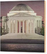 Thomas Jefferson Memorial At Sunset Artwork Wood Print