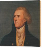 Thomas Jefferson Wood Print