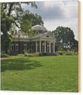 Thomas Jefferson's Monticello Wood Print by Bill Cannon