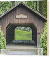 Thomas Malon Covered Bridge Wood Print