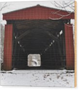 Thomas Mill Road Covered Bridge Wood Print