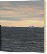 Thomas Point  - View Of The Bay Bridge Wood Print