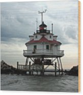 Thomas Point Shoal Lighthouse - Up Close Wood Print