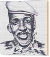 Thomas Sankara 02 Wood Print