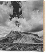 Thompson Springs Gathering Thunderstorm - Utah Wood Print