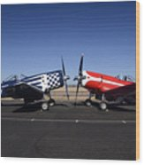 Thompson Trophy Goodyear F2g Corsair Reunion Falcon Field Arizona December 27 2011 Wood Print by Brian Lockett
