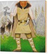 Thor Odinsson Wood Print by Ilias Patrinos