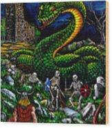 Thor Ragnarok Wood Print