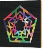 Thoreau Star II Wood Print