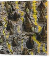 Thorns Of Silk Wood Print