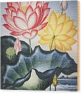 Thornton: Lotus Flower Wood Print