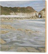 Thornwick Bay At Flamborough Wood Print