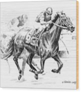 Thoroughbred Best Pal Wood Print