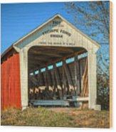 Thorpe Ford Covered Bridge Wood Print