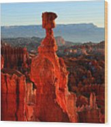 Thor's Hammer In Bryce Canyon At Sunrise Wood Print