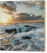 Thors Well Cape Perpetua 2 Wood Print