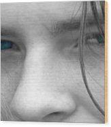Those Blue Eyes Wood Print