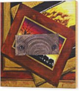 Those Eyes  Elephant  Safari Series Wood Print