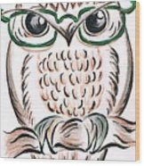 Owl- Those Spectacles  Wood Print
