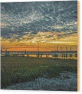 Those Southern Sunsets Wood Print