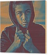 Thoughtful Youth 11 Wood Print