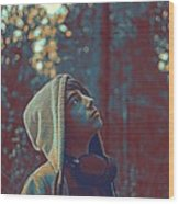 Thoughtful Youth 12 Wood Print