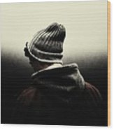 Thoughtful Youth Series 17 Wood Print
