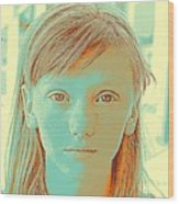 Thoughtful Youth Series 33 Wood Print
