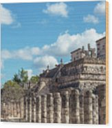 Thousand Columns And Temple Of The Warriors Wood Print