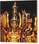 Thousand Hands Buddha Wood Print