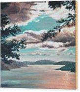 Thousand Island Sunset Wood Print