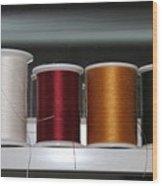 Thread On A Sill Wood Print